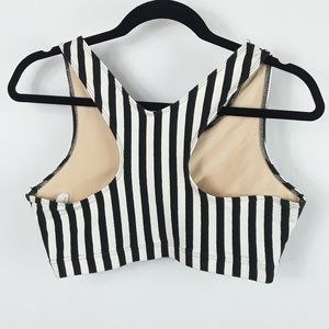 Modern Motion Tops - Black/White Bodywear Dance Bra Short Tank Top